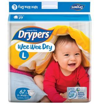 Tã dán Drypers Wee Wee Dry L.62 (9-14kg)