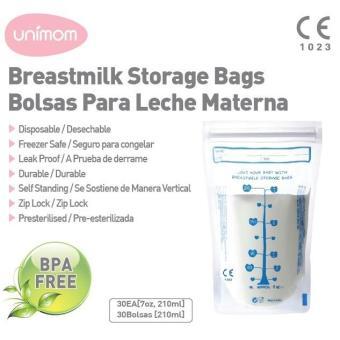 Túi Đựng Sữa Mẹ Unimom Tiêu Chuẩn Standard Không Có Bpa 210Ml 30 Túi