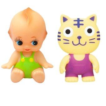 Bộ đồ chơi búp bê bé cười và chút chít hổ con Toyroyal