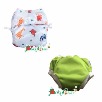 Combo 1 Bộ tã vải ngày và 1 Bộ tã vải quần short ngày BabyCute size M (8-16kg)