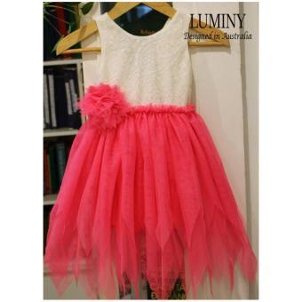 Váy công chúa Luminy cho bé 5 tuổi size 5 màu hồng
