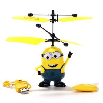 Máy bay cảm ứng Minion điều khiển bằng tay cho bé vui chơi ngày hè