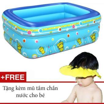 Bể bơi phao 3 tầng GocgiadinhVN (Tặng kèm nón tắm chắn nước cho bé)