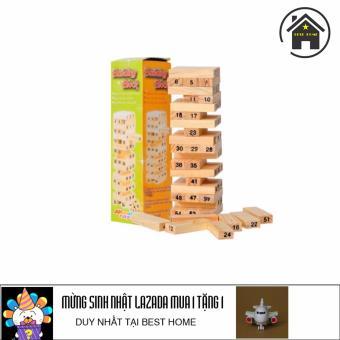 Bộ đồ chơi xếp gỗ tặng kèm máy bay chạy đà cho bé