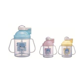 Bình uống nước có tay cầm 250ml - KU5321-Blue
