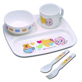 Bộ cốc bát tập ăn cho bé 5 món Farlin PER-246