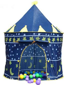 Lều chơi hoàng tử công chúa cho bé (Xanh)