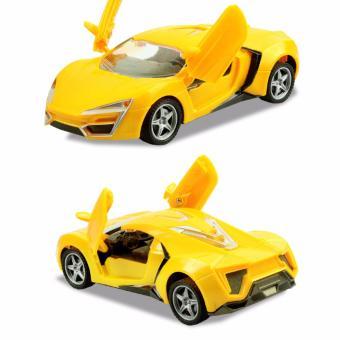 Đồ chơi ô tô cao cấp có sạc pin (vàng )