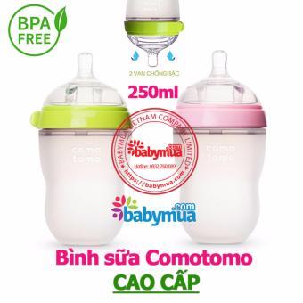 Bình sữa Comotomo Silicon siêu mềm 260ml(xanh)