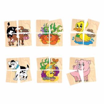 Đồ chơi gỗ ghép hình 10 con vật