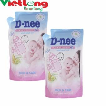 Bộ 2 túi nước rửa bình sữa D-nee 400ml