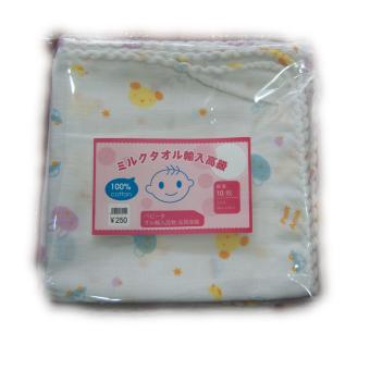 Khăn sữa 2 lớp xuất Nhật túi 10 chiếc 32x32cm Shopconcuame