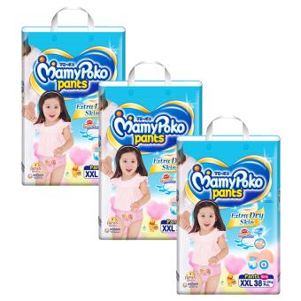 Bộ 3 tã quần Mamypoko XXL38 (Girl)
