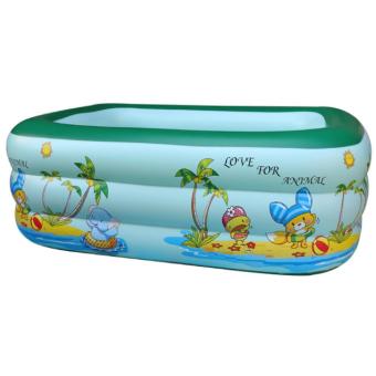 Bể bơi phao 3 tầng cho bé 130x100x55cm RK92 (Xanh lá)