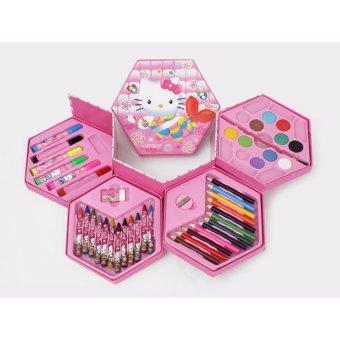 Hộp bút màu 46 món in hình ngộ nghĩnh cho bé yêu Dma store
