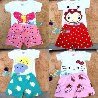 4 Bộ quần áo cho trẻ em, sơ sinh 100 % cotton Size 1 (4-7kg) mẫu bé gái
