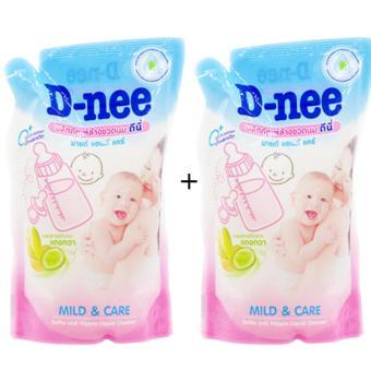 Bộ 2 bịch nước rửa bình sữa Dnee 600ml