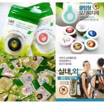 Combo 5 Kẹp Chống Muỗi Tinh Dầu Thảo Dược Bikit Guard (Hàn Quốc)