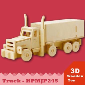Đồ chơi xếp hình xe tải 3D Puzzle Wooden HPM5351