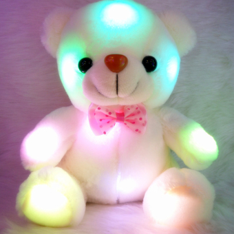 Moonar Fashion Stuffed & Plush Colorful LED Flash Light Teddy Bears Toys Great Gift for Kids - intl