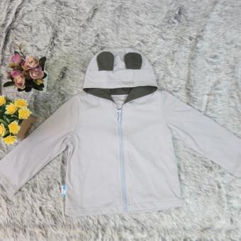Áo khoác dài tay màu xám AK02_X MihaBaby