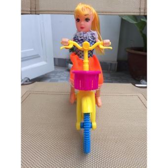 Búp bê cô gái lái xe đạp cực cute