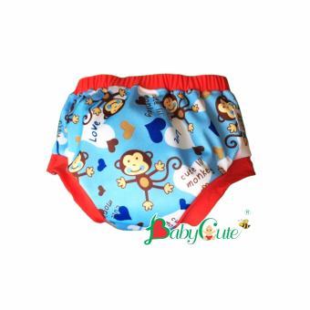 Tã vải quần short ngày BabyCute size M (8-16kg) - Khỉ xanh