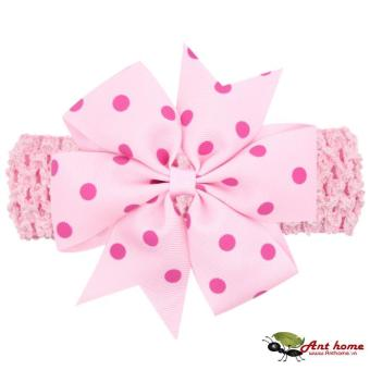Băng đô handmade phong cách châu Âu AHBĐ5 mầu hồng phụ kiện tóc cho bé thêm yêu