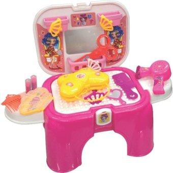 Bộ đồ chơi xếp hình 255 (L3- Ghế ngồi chứa đồ chơi trang điểm)