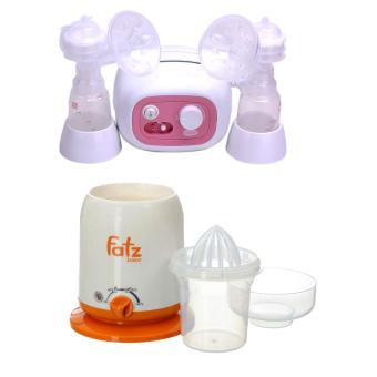 Bộ 1 máy hút sữa Forte Unimom UM880038 + 1 Máy hâm nóng sữa và thức ăn 4 chức năng FATZBABY FB3002SL