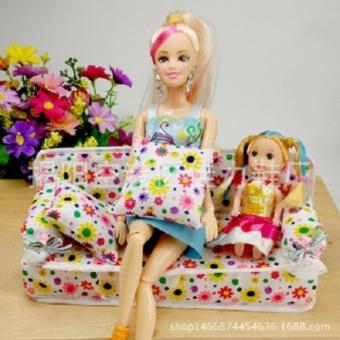sofa vải họa tiết cho búp bê