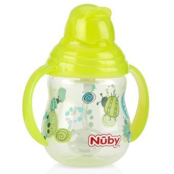 Bình uống nước Nuby hai tay cầm Pin Point 270ml