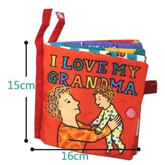 Sách vải Jollybaby Love my grandma cho bé chơi mà học