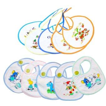 Bộ 5 yếm dan + 5 yếm cột dây cho bé Babyhouse (Trắng)