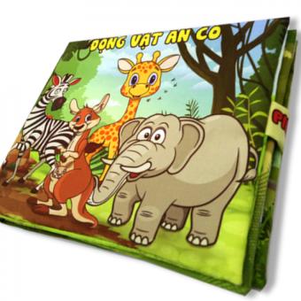 Sách vải cho bé chơi mà học Pipo - Động vật ăn cỏ