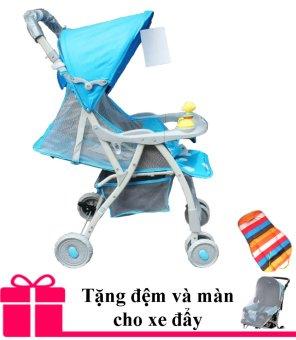 Xe nôi đẩy trẻ em Baobaohao 722C mẫu mới 2016 (Xanh dương) + Tặng kèm đệm và màn xe đẩy