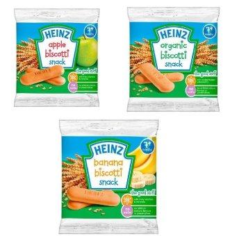 Bộ 3 bánh ăn dặm Heinz vị chuối táo chocolate cho bé từ 7 tháng (60gx3)