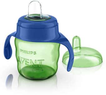 Bình tập uống nhiều màu 200ml cho trẻ trên 6 tháng tuổi (XANH)
