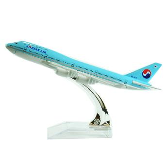 Mô hình máy bay V&G KOREAN AIR EVERFLY 16cm (Xanh dương)