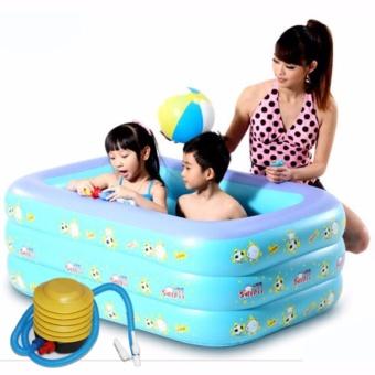 Bể bơi nước nóng - Bể bơi phao kích thước lớn KT13, Chắc chắn - TẶNG BƠM .