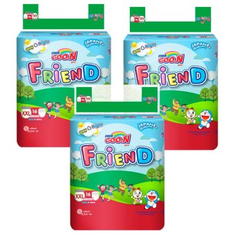 Bộ 3 gói Tã quần GOO.N Friend XXL16 (15 - 25 kg)