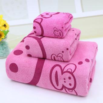 Bộ 3 khăn mềm mịn cho mẹ và bé (Hồng)