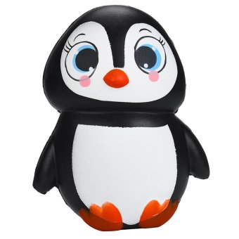 Portable Slow Rising Squishy Toy Soft Kawaii Penguin Shape Artificial Simulation Relieves Stress Toy for Children Adults Anxiety Attention Home Decoration - intl