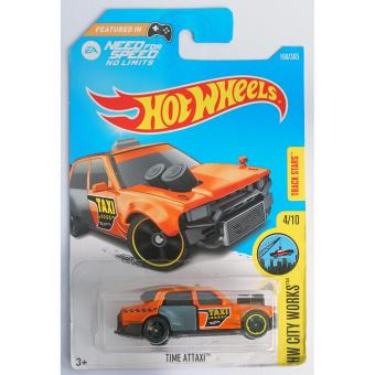 Xe ô tô mô hình tỉ lệ 1:64 Hot Wheels 2017 Need For Speed Time Attaxi Hw City Works 168/365 ( Màu Cam )