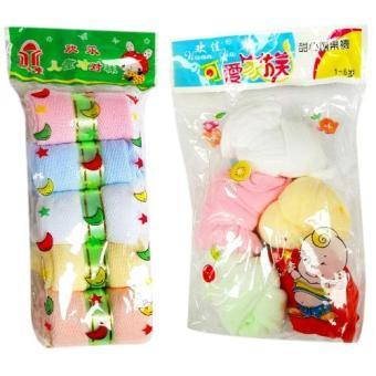 Bộ 5 đôi tất giấy mịn + 5 đôi tất giấy lưới dành cho bé Phú Đạt