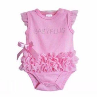 Bộ áo liền quần cho bé gái (hồng)