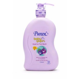 Sữa tắm gội toàn thân hương nho đen và mận Pureen 750ml(Purple)
