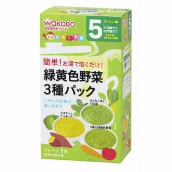 Bộ 2 gói bột Ăn Dặm Wakodo Rau Củ Quả Nhật Bản Dành Cho Bé 5m+ date mới nhất