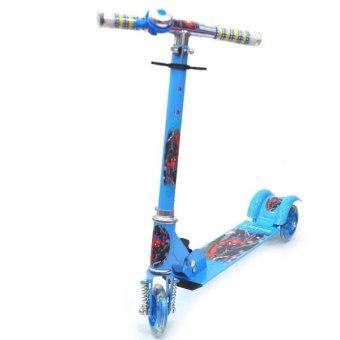 Xe trượt Scooter 3 bánh tay cầm 3 cấp độ SSWT- 09 (xanh dương)
