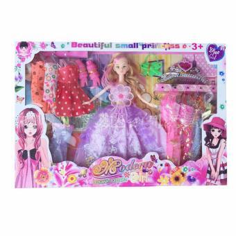 Bộ đồ chơi búp bê xinh xắn + Tặng kèm 10 bộ váy và phụ kiện